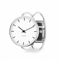 Arne Jacobsen City Hall Bangle Watch White