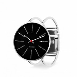 Arne Jacobsen Bankers Bangle Watch Black