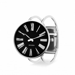 Arne Jacobsen Roman Bangle Watch Black 40mm