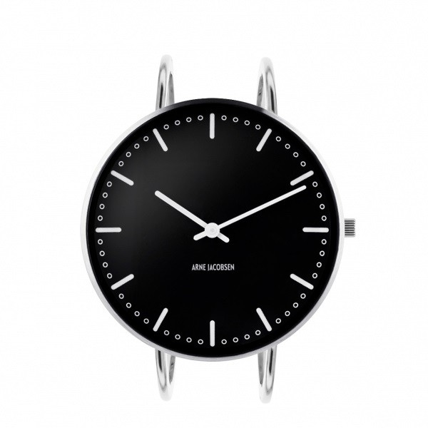 Arne Jacobsen City Hall Bangle Watch Black 40mm