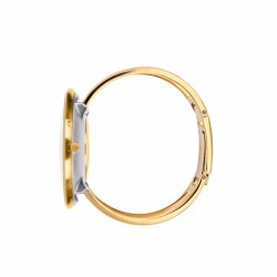 Arne Jacobsen Bankers Bangle Watch White Gold