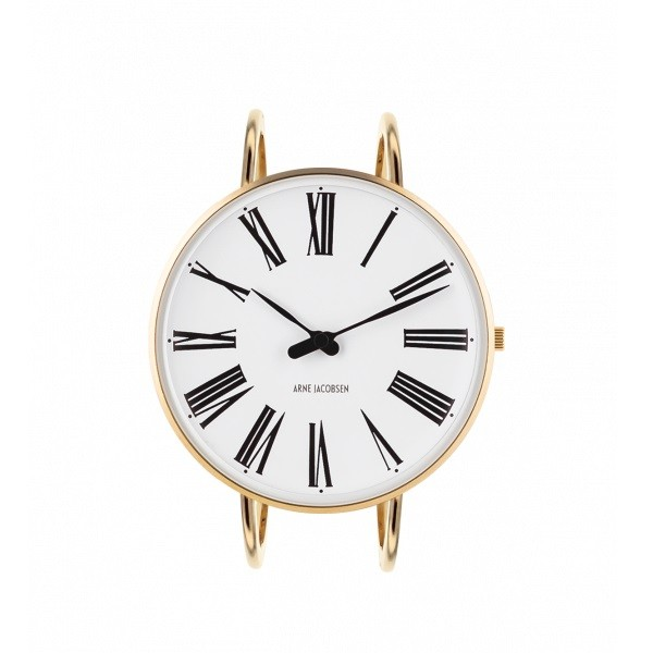 Arne Jacobsen Roman Bangle Watch White/Gold