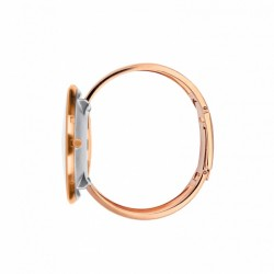 Arne Jacobsen Roman Bangle Watch White Polished Rose Gold