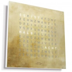 Biegert & Funk Qlocktwo Large Silver & Gold