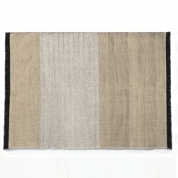 Nanimarquina Tres Stripes Black Carpet Outdoor