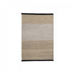 Nanimarquina Tres Stripes Black Carpet Oudtoor