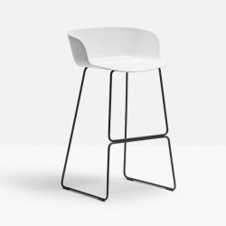 Pedrali Babila Stool With Backrest Sled