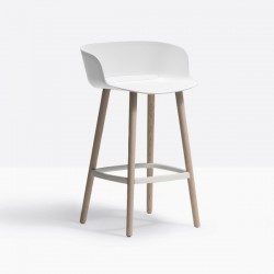 Pedrali Babila Stool with Backrest Wood