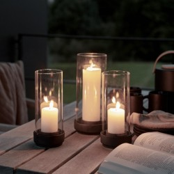 Stelton Hurricane Candle Holders