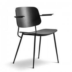Fredericia Søborg Steel Frame Armchair