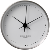 Georg Jensen Koppel wall clock stainless steel with white dial