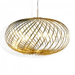 Tom Dixon Spring Pendant Lamp Brass Medium