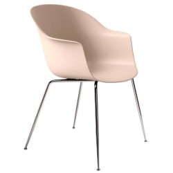 Gubi Bat Dining Chair Un-Upholstered Conic Base