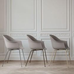 Gubi Bat Dining Chair Un-Upholstered Conic Base