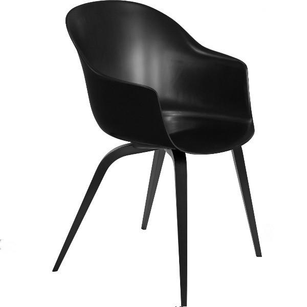 Gubi Bat Dining Chair Un-Upholstered Wood Base