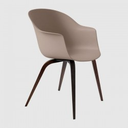 Gubi Bat Dining Chair Un-Upholstered Wood Base