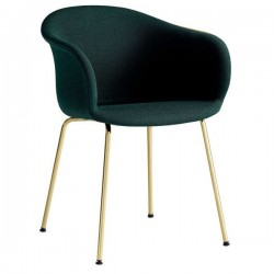 &Tradition Elefy Chair Upholstered Metal Legs