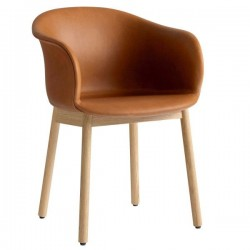 &Tradition Elefy Chair Upholstered Wooden Legs