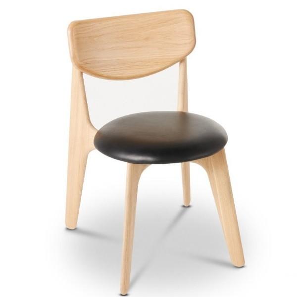 om Dixon Slab Chair Natural Upholstered