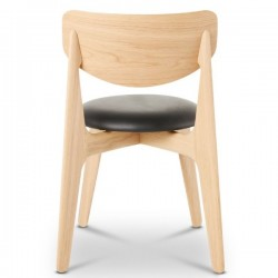 om Dixon Slab Chair Natural Upholstered