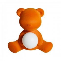 Qeeboo Teddy Girl Rechargeable Lamp Velvet Finish