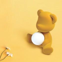 Qeeboo Teddy Girl Rechargeable Lamp Velvet Finish