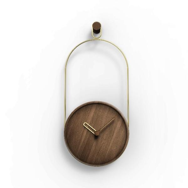 Nomon Eslabón Walnut Clock