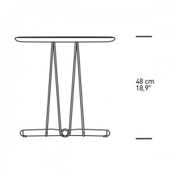 Carl Hansen & Søn Embrace Lounge Table 48cm