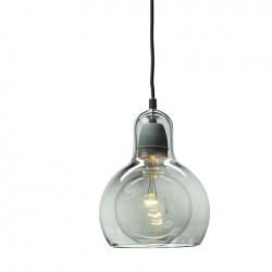 &Tradition Mega Bulb Pendant SR2 Silver with black cord
