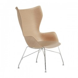 Kartell k Wood Lounge Chair Leather