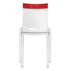 Kartell Hi-Cut Chair Crystal - Red