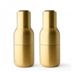 Menu Bottle Grinders Brushed Brass