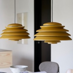 Verpan Hive Yellow Pendant Light