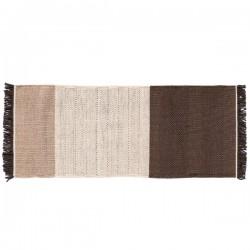 Nanimarquina Tres Stripe Chocolate Carpet