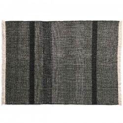 Nanimarquina Tres Texture Black Carpet