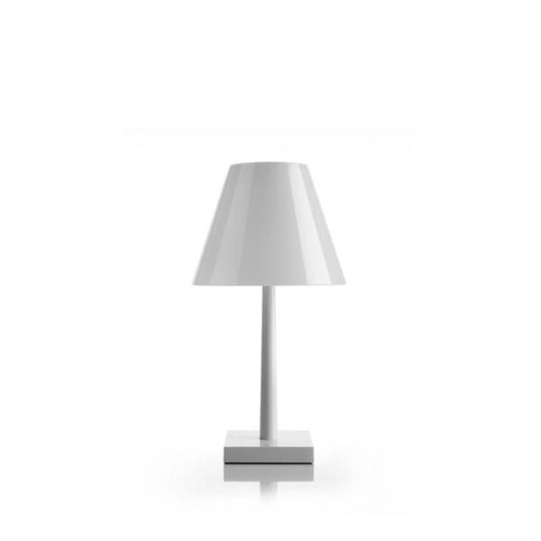 Rotaliana Dina Small Led Bedside Lamp Glossy white / white shade