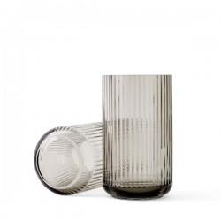 Lyngby Vase Glass Smoke