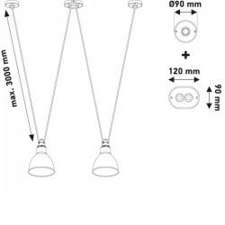 DCW Editions Les Acrobates De Gras 324 Round Shade Pendant Light