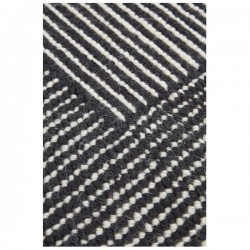 Tom Dixon Stripe Rug Rectangular Black and White
