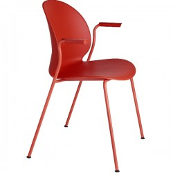 Fritz Hansen  N02 Recycle Armchair dark red