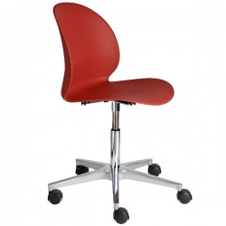 Fritz Hansen N02 Recycle Swivel Chair dark red