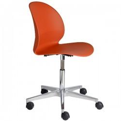 Fritz Hansen N02 Recycle Swivel Chair dark orange