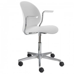 Fritz Hansen N02 Recycle Swivel Arm Chair white