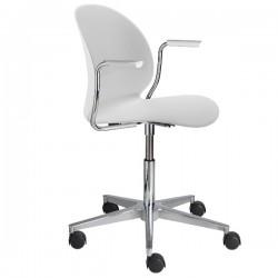 Fritz Hansen N02 Recycle Swivel Arm Chair white