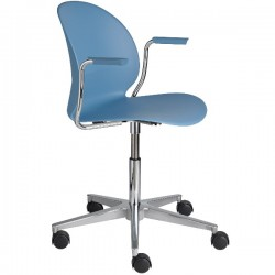 Fritz Hansen N02 Recycle Swivel Arm Chair blue