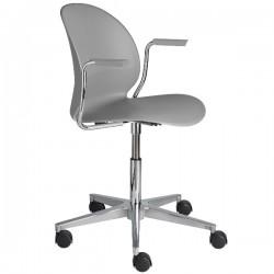 Fritz Hansen N02 Recycle Swivel Arm Chair grey