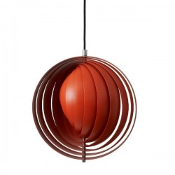 Verpan Moon Pendant Light Orange Small
