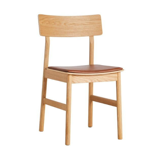 Woud Pause Dining Chair w Cognac Leather Seat