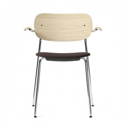 Menu Co Chair Armrest Upholstered Seat Chrome