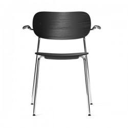 Menu Co Chair Armrest Upholstered Seat Chrome